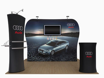 China 20 Feet Tension Fabric Exhibition Stands Fabric Tube Display Weather Resistant supplier