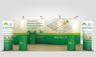 China Waterproof Recycling Fabric Pop Up Display Stands Fabric Trade Show Booth distributor
