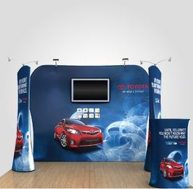 China 8Ft 10Ft 15Ft Tension Fabric Displays Trade Show Booth Displays Waterproof distributor